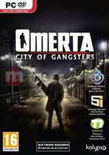 Omerta: City of Gangsters - PC DVD - Brand New and Factory Sealed