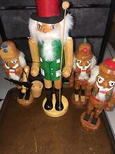 Wooden Christmas Ornaments Lot of 6Vintage Nutcrackers Santa 12�&8�