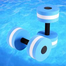 2PCS Lightweight Water Aerobics Dumbbell EVA Foam Aquatic Barbell Light Fitness