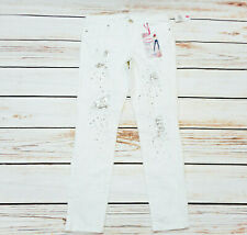 Almost Famous Womens Size 7 Mid Rise Ankle Distressed White Jeans Nwt