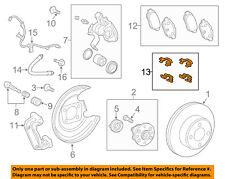 TOYOTA OEM 2012 Yaris Brake-Rear-Brake Pads Hardware Kit 0494852040