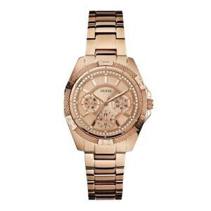Guess Women's Watch Ladies Stainless Steel Bracelet W0235L3 Rose Gold