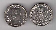 SERBIA – 20 DINAR UNC COIN 2006 YEAR KM#42 NICOLA TESLA