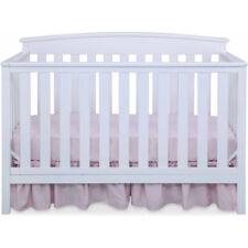 Convertible Baby Infant Crib 4-in-1 Toddler Newborn Children Bed White Wood