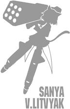 Strike Witches Sanya V Litvyak character decal sticker