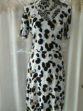Next size 8 dress,v neck,multi color,short sleeves,new with tags ,slip on summer