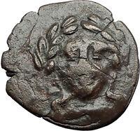 ALEXANDRIA TROAS 164BC Apollo Facing Lyre Authentic Ancient Greek Coin i59692
