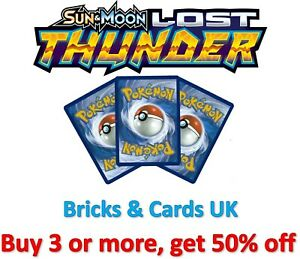 Pokemon TCG Lost Thunder - Rare / Uncommon / Common / Trainer Cards