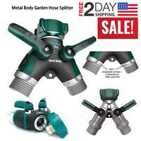 2wayz All Metal Body Garden Hose Splitter. Newly Upgraded (2017): 100% Secured