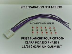 KIT DE REPARATION FAISCEAU CONNECTIQUE FEU ARRIERE CITROEN XSARA PICASSO 1 NEUF
