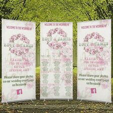 Personalised Wedding Banner - Large Format 2000mm X 800mm - Roller With Stand