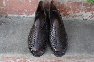 THE PETATILLO VINTAGE OILED mexican sandals men's huaraches mexicanos ACME