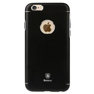 "Apple iPhone 6 6S 4.7"" Baseus Hard Handy Tasche Metall TPU Hülle Cover Schwarz"