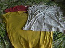 BULK LOT: Three (3) Suzannegrae T-Shirts Yellow White Peach (Size XL - 16 to 18)