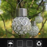 Solar Powered LED String Light Garden Path Yard Decor Lamp Outdoor Waterproof