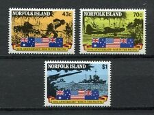 28201) NORFOLK ISLAND 1991 MNH** Nuovi** W.W. II in the Pacific 3v
