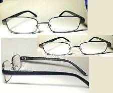3 Pair Foster Grant Sailor Gun Metal Reading Glasses Spring Hinges Black Stems