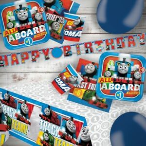 Thomas The Tank Engine Train Party Tableware, Decorations and Balloons