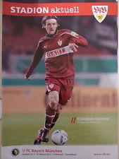 Programm Stadionheft 11/12 VfB Stuttgart Bayern München DFB-Pokal Kartonbeilag
