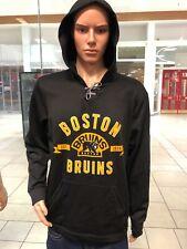Boston Bruins Hockey  Hoodie Black/Gold Mens  ADIDAS BRAND PERF FLC