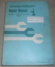 Toyota 3fb10 3fb15 3fb20 3fb25 Fb30 Forklift Service Shop Repair Workshop Manual