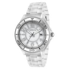 Invicta Women's Watch Anatomic Quartz MOP Dial White Plastic Bracelet 30355