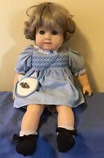 "Hans Gotz Puppe Modell 18"" Blonde Toddler Girl Doll Original Clothing Germany"