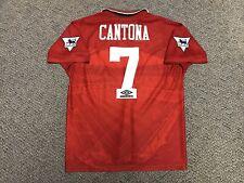 1994 1995 Manchester United Eric Cantona Jersey Shirt Kit Large Umbro Vintage 7