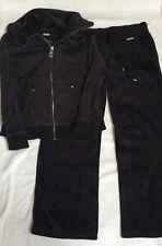 Women's MICHAEL KORS Blue Velour Silver Hardware Track Suit Size Petite Small