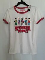 Womens Stranger Things t-shirt size Medium brand Netflix NWT color white, red