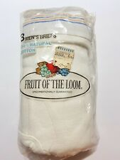 Vtg 70s Fruit Of The Loom Briefs Underwear Mens Large 38-40 1978 Deadstock Nos