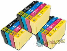 12 T1291-4/T1295 non-OEM APPLE Ink Cartridges for use in Epson Stylus SX525WD
