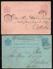 1889./94. NEDERLAND NETHERLANDS HOLLAND 2 POSTCARDS BRIEFKAART GRAAUW ROTTERDAM