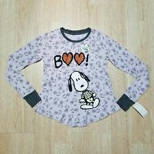 Peanuts M7 8 bGirls T-Shirt Snoopy Skeleton Boo Halloween Long Hearts Glow Dark