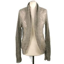 James Lakeland Size 44 UK 12 Grey Loose Knit Open Cardigan Mohair Blend