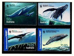 AUSTRALIA 2006 WWF WHALES DOWN UNDER  set of 4 MNH