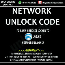 Blackberry Curve 9360 UNLOCK CODE ATT AT&T ONLY NETWORK UNLOCK CODE / PIN
