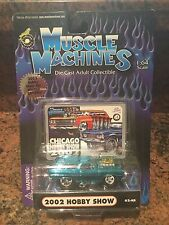 1/64 1965 Chevelle Wagon Chase Car Muscle Machines Blown/supercharged In Blue