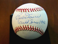 BOBBY DOERR 1946 WORLD SERIES HOF BOSTON RED SOX SIGNED AUTO OML BASEBALL JSA