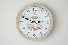 Clayre & Eef Wanduhr Rose Uhr Clock Shabby Chic Vintage Landhaus