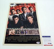 Matt Damon Signed Autograph Oceans Thirteen 13 Movie Poster PSA/DNA COA