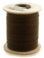 100m Baumwollband (0,13 €/1m) dunkelbraun 1 mm rund poliert gewachst Rolle/Spule
