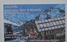 Schuppen für Pistenbully  - von Microlife Lasercut Bausatz 1:160 Spur N