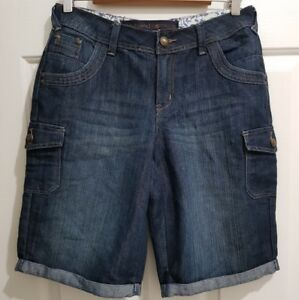 Ladies size 10 Blue Boyfriend Denim shorts - BNWOT - Target