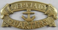 Mermaid Quarters Sign Nautical Plaque Mermaids Signs w/ Fish & Anchor Wall Decor