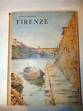 Arte Viaggi - M. Marangoni: Firenze 1939 De Agostini dedica Polizia Stato 1a ed.