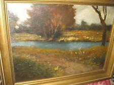 HORVAT von Lajos, *1904 Sommerliche Flußlandschaft
