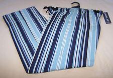 Coast Clothing Co Mens Blue Stripe Printed Flannel Sleep Pants Size XL New