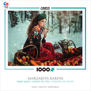 NEW CEACO 3376-2 Margarita Kareva Fairy Tales Lady in the Snow 1000 Piece puzzle