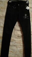 ROEN  SKULL  EXTREMELY RARE  BLACK JEANS WITH SWAROVSKI ELEMENT JAPAN  SIZE 28